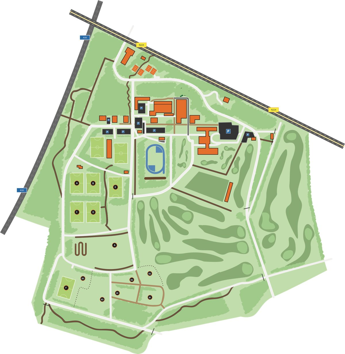 Plattegrond Papendal